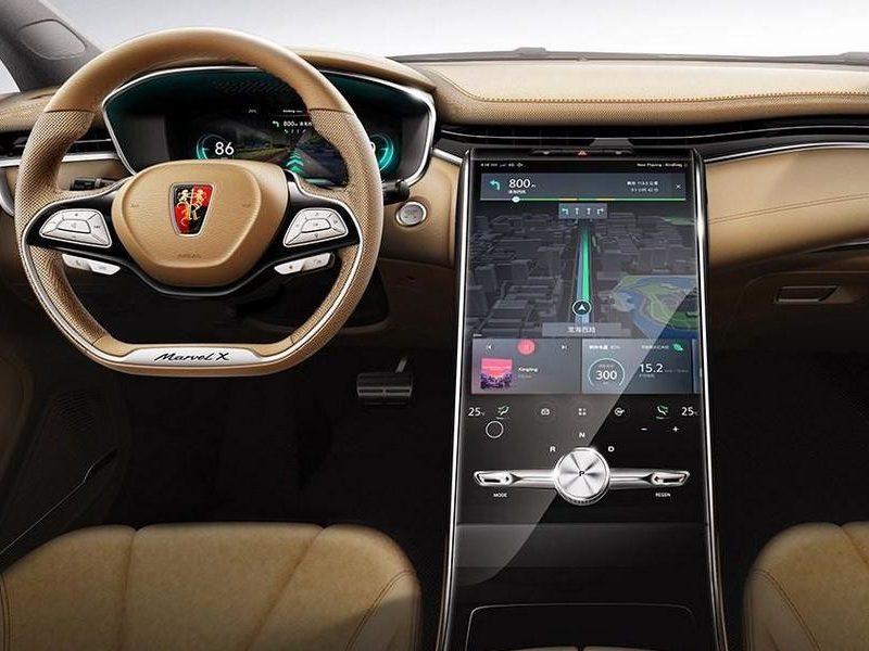 Экран больше, чем у Tesla: Roewe показала салон кроссовера Marvel X