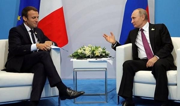 Путин примет Макрона вПетербурге&nbsp