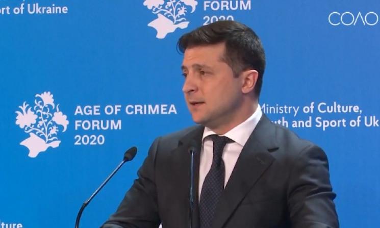 """Зеленский: Крым не будет """"разменной монетой"""" в вопросе завершения войны на Донбассе"""