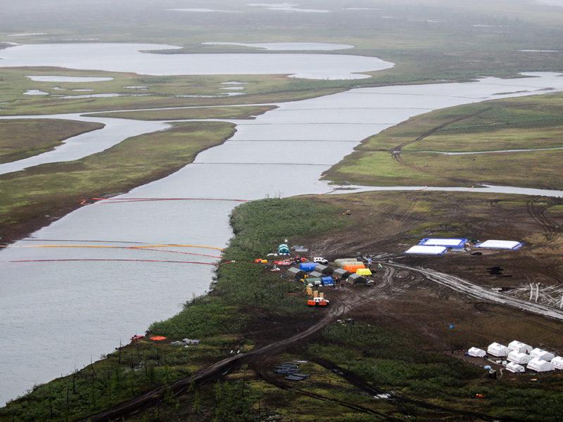Вторая утечка топлива всего за два месяца в Арктическом регионе России