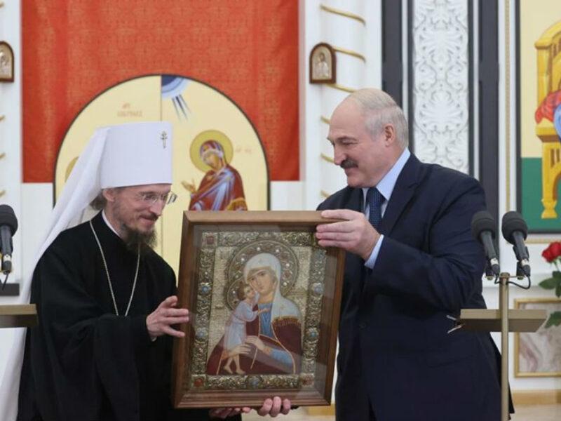 Лукашенко посетил новый храм в честь святого пророка Иоанна Предтечи