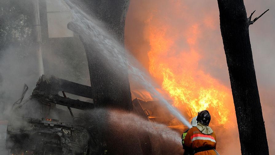 Четыре человека, в том числе двое детей, погибли при пожаре в доме под Рязанью