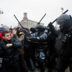 Правозащитники сообщили оболее чем3,3тыс. задержанных вовремя протестов вРоссии