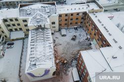 В Екатеринбурге продолжили снос здания ПРОМЭКТа