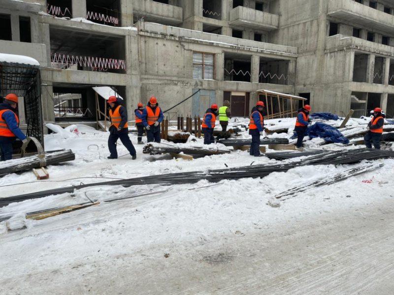 В проблемном ЖК «Терлецкий парк» на блоке Б начались работы по наращиванию высотности