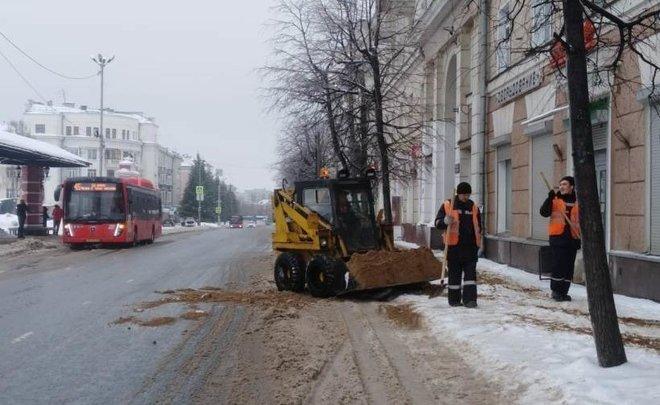 Стал известен список улиц Казани, откуда сегодня будут вывозить снег