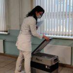 Вкрасногорские больницы передали двеморозильные камеры длявакцины отCOVID-2019