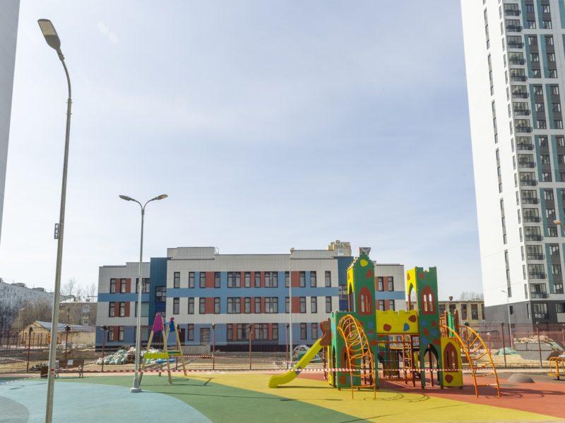 В районе Соколиная гора достроили детский сад