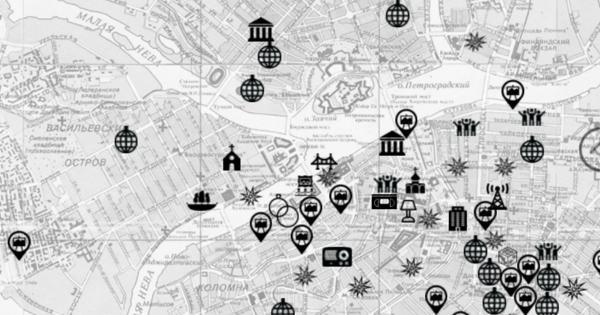 Создана карта Петербурга 90-х, накоторой есть Фонтанка 145, Клуб 69иРадио «Порт-FM»
