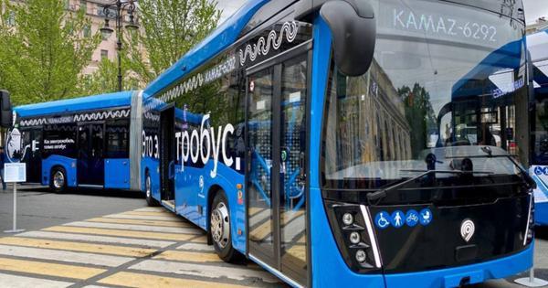 ВМоскве протестируют новый электробус-гармошку