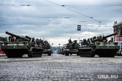 Во время репетиции парада Победы в Уфе загорелся танк. Видео
