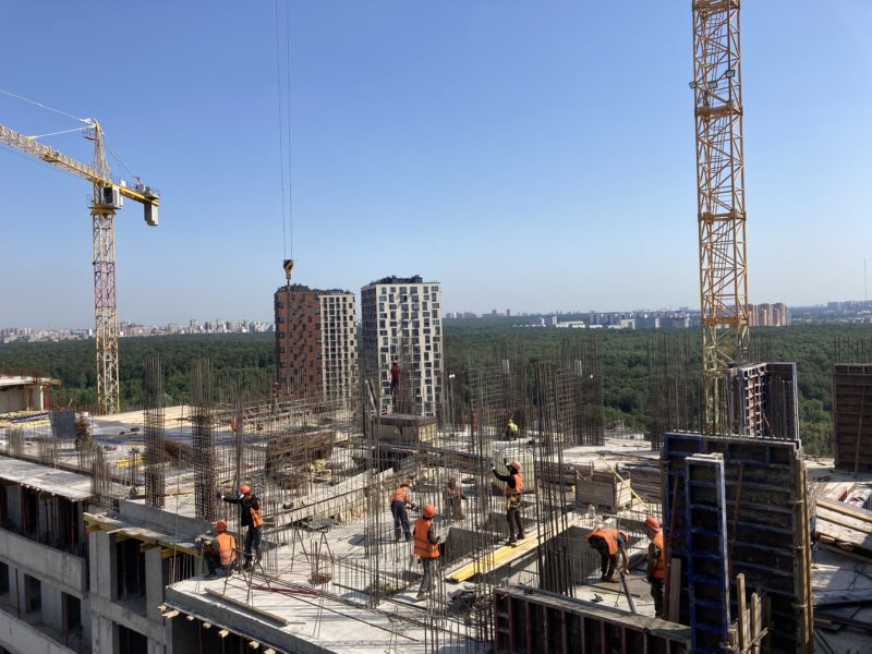 На блоке Ж жилого комплекса «Терлецкий парк» начались работы нулевого цикла