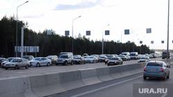 Кольцовский тракт встал в огромную пробку из-за ДТП