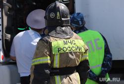 Под Калугой автобус врезался в КамАЗ, три человека погибло. Фото