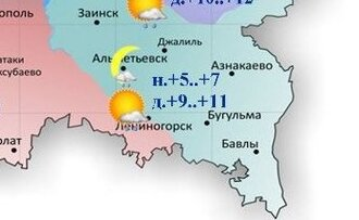 Сегодня вТатарстане ожидается дождь идо+12градусов